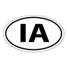 IA Oval decal sticker (Oval)