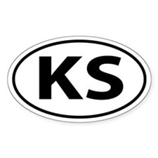 KS Oval decal sticker (Oval)