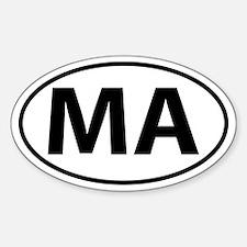 MA Oval decal sticker (Oval)