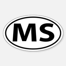 MS Oval decal sticker (Oval)