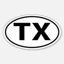 TX Oval decal sticker (Oval)