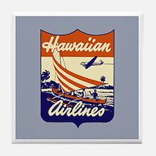 Retro Hawaiian Air Tile Coaster