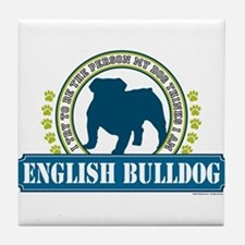 English Bulldog Tile Coaster