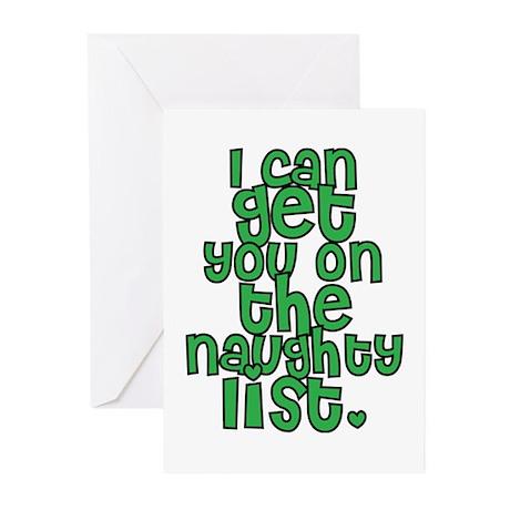 Naughty List - Christmas Greeting Cards (Pk of 10)