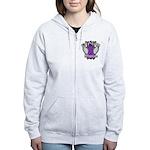 Pancreatic Cancer Warrior Women's Zip Hoodie