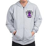 Pancreatic Cancer Warrior Zip Hoodie