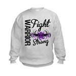 Fight Strong Pancreatic Cancer Kids Sweatshirt
