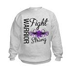 Fight Strong Pancreatic Cancer Kids Sweatshirt