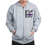 Fight Strong Pancreatic Cancer Zip Hoodie