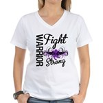 Fight Strong Pancreatic Cancer Women's V-Neck T-Sh