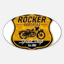 Vintage Cafe Racer Sticker (Oval)