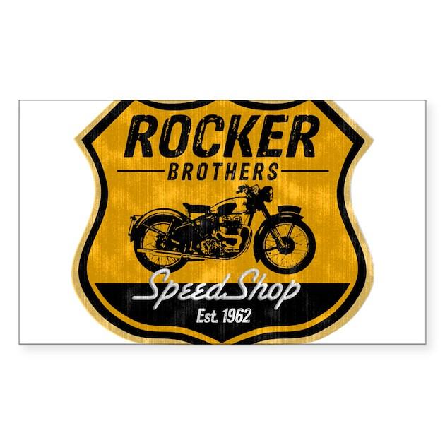vintage cafe racer sticker (rectangle)vintagecaferacer