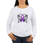 PancreaticCancerAwareness Women's Long Sleeve T-Sh
