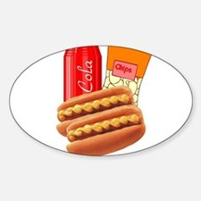 Lunch Combo Sticker (Oval)