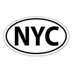 NYC Oval decal Sticker (Oval)