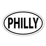 Philadelphia PHILLY Oval decal Sticker (Oval)