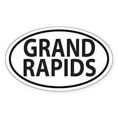 Grand Rapids, MI Oval decal Decal