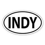Indianapolis, INDY Oval decal Sticker (Oval)