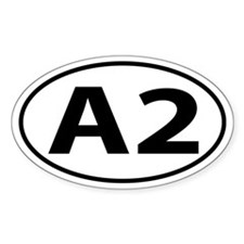 A2 Ann Arbor, MI Oval decal Decal