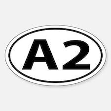 A2 Ann Arbor, MI Oval decal Sticker (Oval)