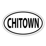 Chitown Oval decal Sticker (Oval)