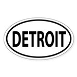 Detroit Oval decal Sticker (Oval)