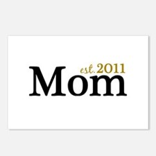 New Mom Est 2011 Postcards (Package of 8)