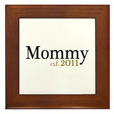 New Mommy Est 2011 Framed Tile