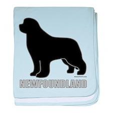 Newfoundland Silhouette baby blanket