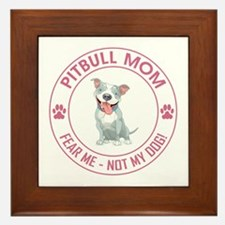 PITBULL MOM Framed Tile