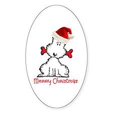 Dog Christmas Decal