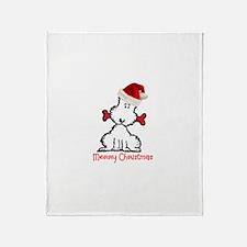 Dog Christmas Throw Blanket