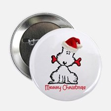 """Dog Christmas 2.25"""" Button (10 pack)"""