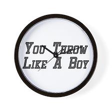You Throw Like A Boy Wall Clock