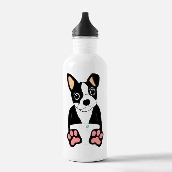 Boston Terrier Puppy Water Bottle