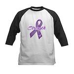 Strength Pancreatic Cancer Kids Baseball Jersey