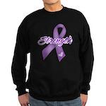 Strength Pancreatic Cancer Sweatshirt (dark)