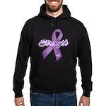Strength Pancreatic Cancer Hoodie (dark)