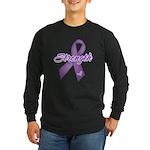 Strength Pancreatic Cancer Long Sleeve Dark T-Shir
