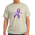 Strength Pancreatic Cancer Light T-Shirt