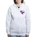 AwarenessPancreaticCancer Women's Zip Hoodie