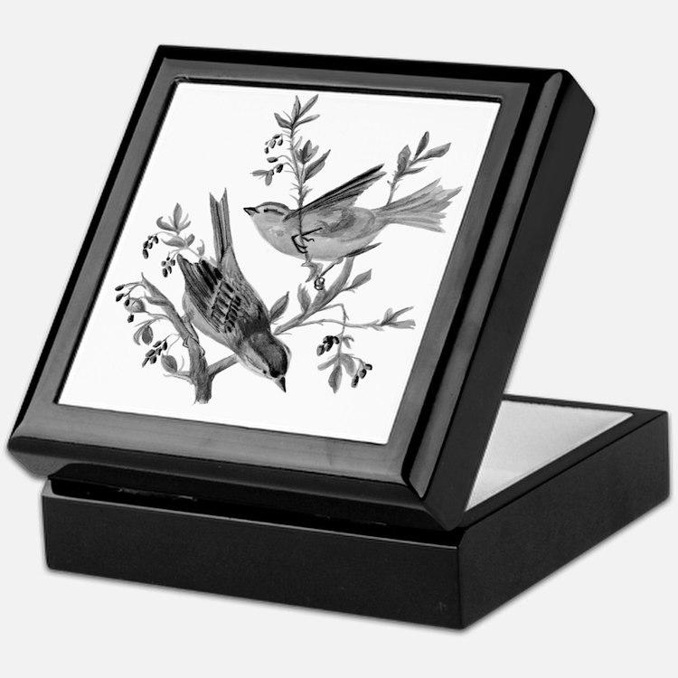 Cute Grayscale Keepsake Box