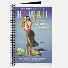 'Hawaii By Clipper' Panam Poster Journal