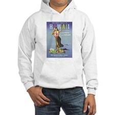 'Hawaii By Clipper' Panam Poster Hoodie