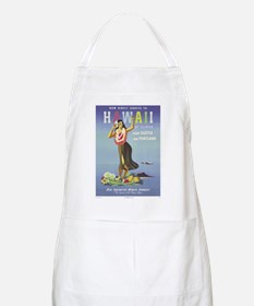 'Hawaii By Clipper' Panam Poster BBQ Apron