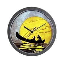 Hilo Bay vintage Hawaiian poster Wall Clock