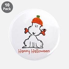 "Dog Halloween 3.5"" Button (10 pack)"