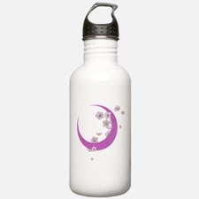 Crescent Moon Cherry Blossoms Water Bottle