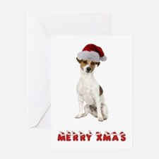 Xmas Jack Russell Terrier Greeting Card