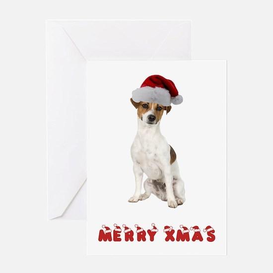 Xmas Jack Russell Terrier Greeting Card